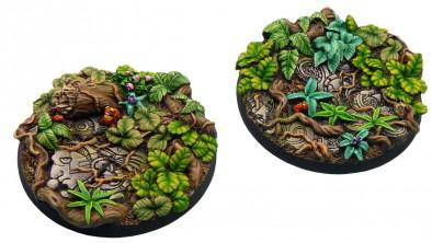 Peanas Warhammer con motivos naturales diseñados de forma artesanal