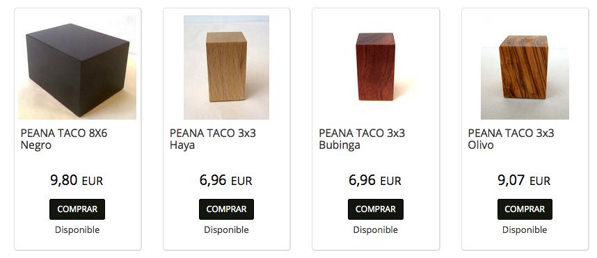 Peanas Warhammer tipo taco, las más minimalistas y elegantes, son ideales para exponer en vitrinas de coleccionistas.
